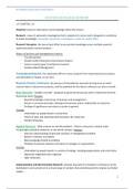 SUMMARY: Business Research Methods: SUMMARY including book theory CH1-6   ALL LECTURE SLIDES