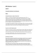 ESSAY: Pearson BTEC Business Level 3 - Unit 3