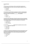 Exam: TEST QUESTIONS Strategy & Organization for final exam WITH ANSWERS