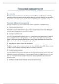 ESSAY: Financial management