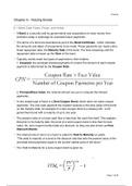 SUMMARY: Finance Summary - Midterm 2
