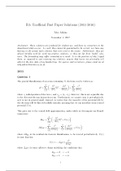 Exam: (Oxford) Solutions for B3: Quantum, Atomic and Molecular Physics, 2011-2016