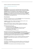SAMENVATTING: Fundamentals of Marketing by Paul Baines