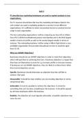 ESSAY: BTEC LEVEL 3 Diploma Business, Unit 3, P1