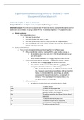 SAMENVATTING: Summary English Language Specialisation Course - Grammar, Writing and SWAN - Module 5 - HMSM