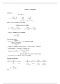 SUMMARY: Formulas and little notes (Chapters 9, 10, 12, 14-18, 20-22, 28)