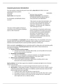 SUMMARY: Corporate governance and restructuring part 2