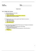 Answers: Exam 1 Practice Test