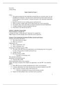SUMMARY: Exam 1 Study Guide
