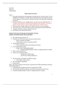 SUMMARY: Exam 3 Study Guide