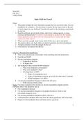 SUMMARY: Exam 4 Study Guide
