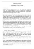 NOTES DE COURS: Literature - H. Walpole, The Castle of Otranto