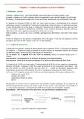 NOTES DE COURS:  Analyse Moléculaire des Organismes