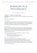 SUMMARY: COMPLETE book summary Personality, Clinical and Health Psychology (Leiden Custom Edition by Philip Spinhoven)