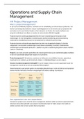 SAMENVATTING: Operations and Supply Chain Management H4, H5, H6, H9, H10, H18, H21, H22