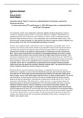 ESSAY: To what extent does BT's performance in 2013-2014 guarantee a sustainable future for BT plc? (16 marker)