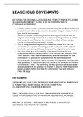 LECTURE NOTES: Leasehold Covenants + Licenses