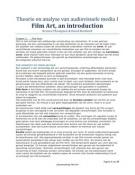 SUMMARY: Film Art, an introduction