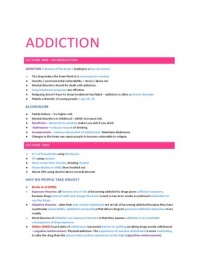 LECTURE NOTES: Addiction and the Brain: Full Lecture notes