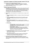 SAMENVATTING: Begrippenlijst ´Psychologie, een inleiding´