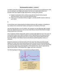 LECTURE NOTES: Physiology 314 - Cardio summary