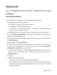 LECTURE NOTES: Studentencursus Marktrecht