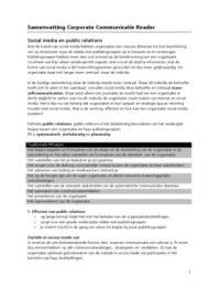 SAMENVATTING: Corporate Communicatie reader samenvatting