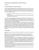 SAMENVATTING: Middeleeuwen; Rosenwein - A Short History of the Middle Ages