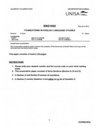 rsc2601 exampack 2011 2013 Old question papers back to main page.