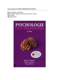 SAMENVATTING: Psychologie, een inleiding. H.14 Stress, gezondheid en welzijn