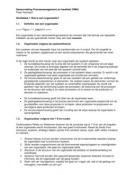SAMENVATTING: Inrichten en optimaliseren van organisaties