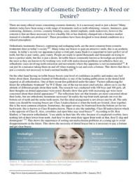 ESSAY: Extended Essay- cosmetic dentistry