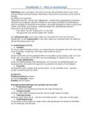 SUMMARY: Samenvatting Inleiding tot de Marketing (B. Verhage)