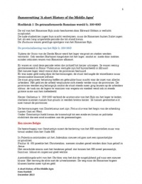 SAMENVATTING: Volledige samenvatting A Short History of the Middle Ages (B. Rosenwein)