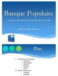 PRESENTATION: CPAP - Banque Populaire BTS Banque