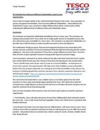 ESSAY: BTEC Businees Level 3 Unit 1 The Business Environment Issue 2- D1