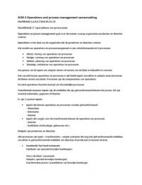 SAMENVATTING: Operations and process management SCM 2