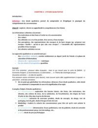 NOTES DE COURS: L'étude qualitative