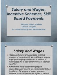 PRESENTATION: P6 - Redundancy and Remuneration