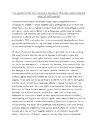 ESSAY: How significant is the level of economic development of an area, in determining the impact of earth hazards?- A2 Geography (unit 3 global issues- eart