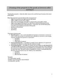 NOTES DE COURS: Commercial law