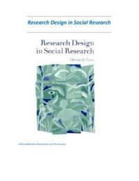 SUMMARY: Research design in social research - de vaus