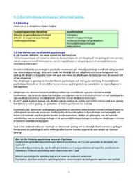 SUMMARY: Samenvatting klinische psychologie 1