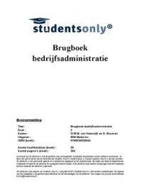 SUMMARY: Samenvatting Brugboek bedrijfsadministratie