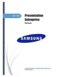 PRESENTATION: Dossier Entreprise - Samsung