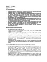 CASE: Privity of contract notes